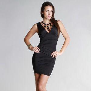 Nikibiki Womens V Neck Little Black Dress Size L